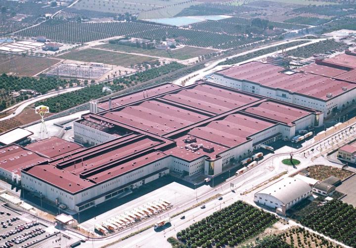Foto de las instalaciones con perspectiva aérea de el pozo